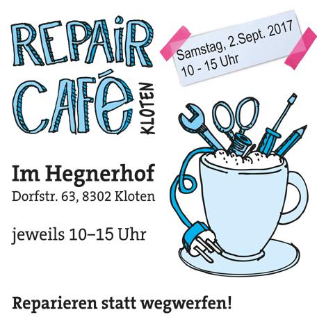 Repair Café Kloten, reparieren statt wegwerfen